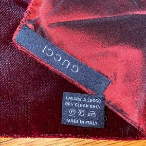 AUTHENTIC Gucci Scarf in Velvet